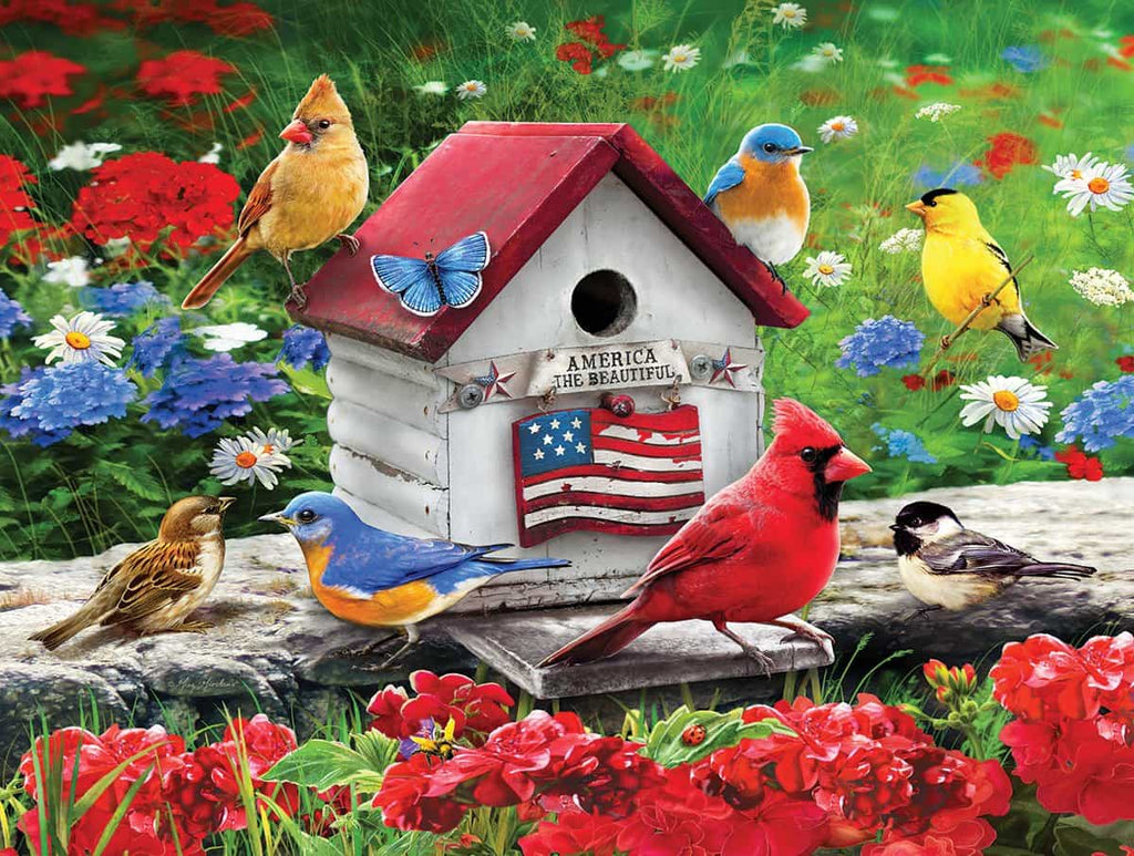 Patriotic Birdhouse - 300 Pieces - DISC