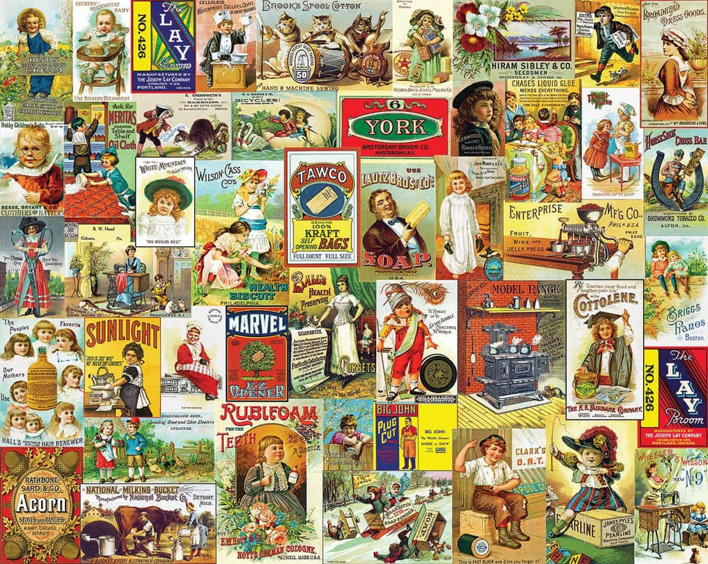 Antique Advertising - 1000 Pieces - DISC