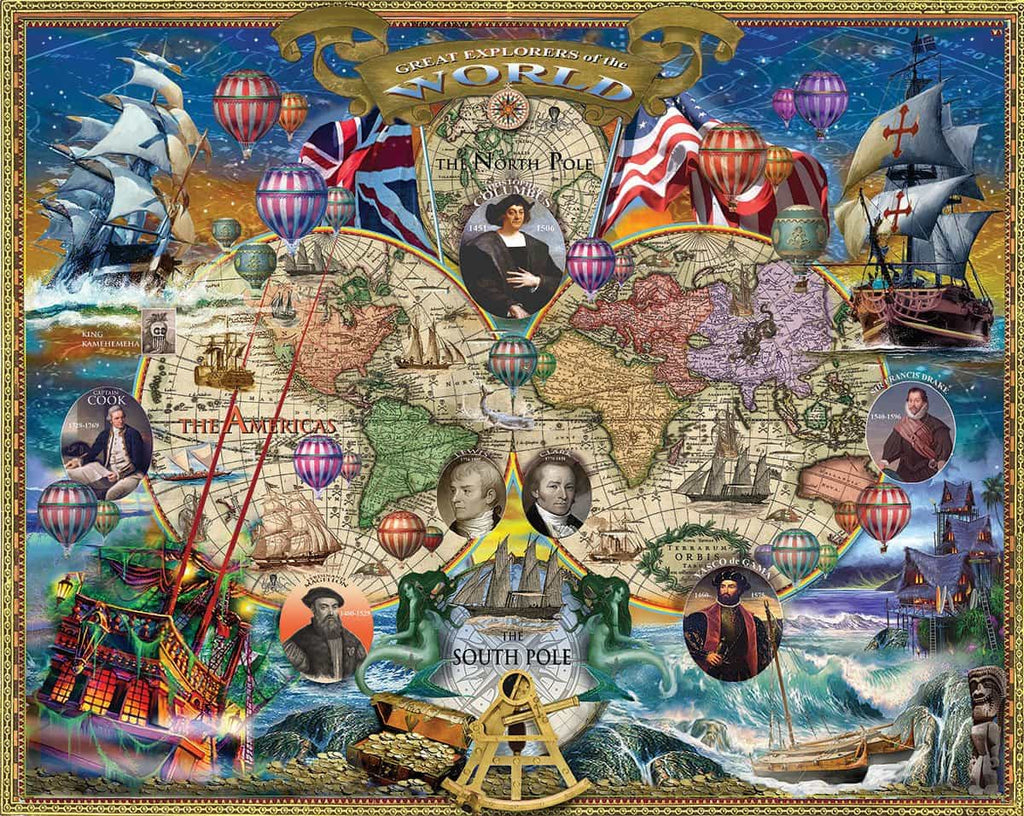 Great Explorers World Map - 1000 Pieces