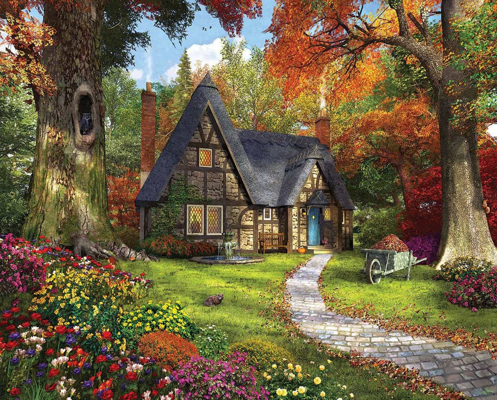 Autumn Cottage - 1000 Piece Puzzle