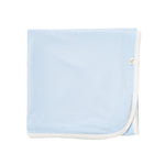 Boody Baby Bamboo Blue Stretch Jersey Folded Blanket