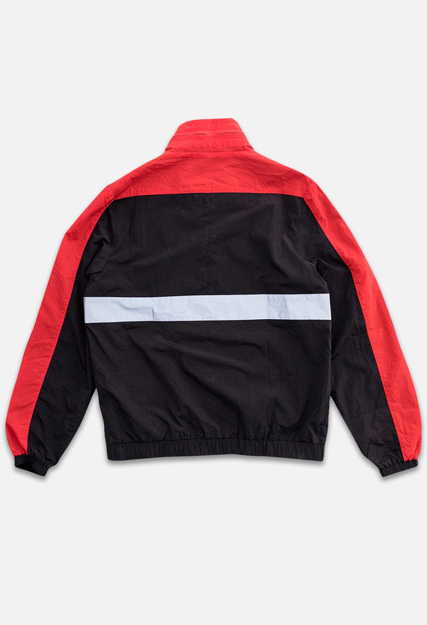 Triblock Track Black/Red Jacket Back View