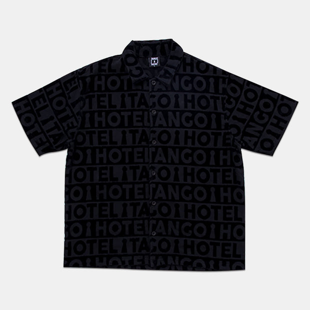 Tango Black Poolside Terry Shirt Front View