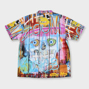 Tango Hotel Skull Fence Cabana Backview Shirt