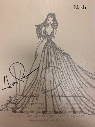 Nash- Hayley Paige Bridal Gown Printed Sketch