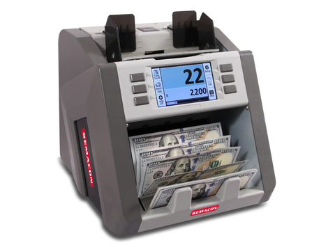Semacon S-2200 Bank Grade Single Pocket Currency Discriminator Armadillo Safe and Vault