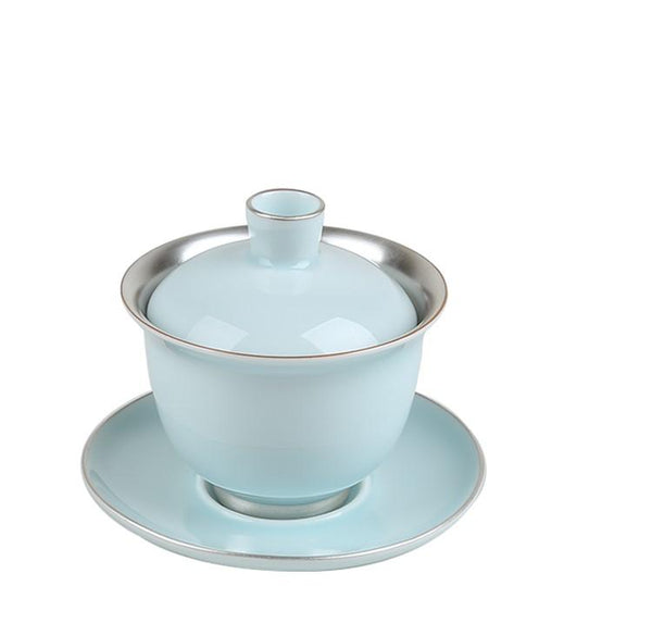 Blue Celadon Ceramic and Pure Silver Gaiwan * 140ml