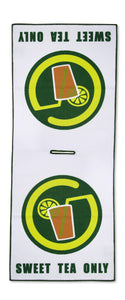 "Circle ""SWEET"" Tea Only Logo Waffle Golf Towel"