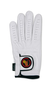 Circle Tea Logo - White Cabretta Leather Golf Glove