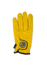 "Circle ""SWEET"" Tea Logo - Yellow Cabretta Leather Golf Glove"