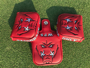 Red Arkansas Use Only Mallet Putter Cover