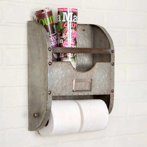 Galvanized Towel Holder and Caddy