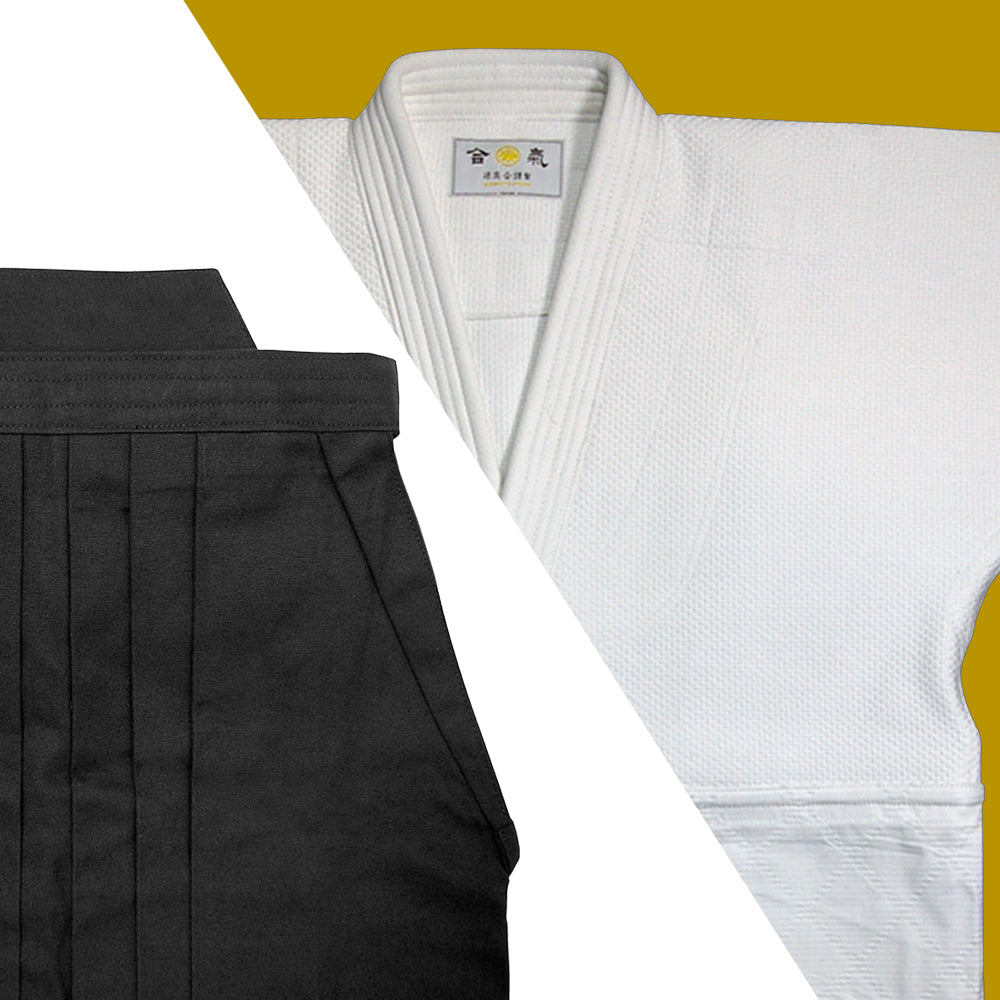 Double Layered Gi + Black Cotton Hakama Set