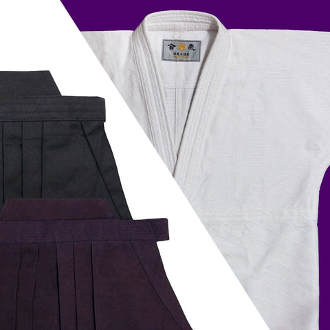 """HOUOU"" Single Layered Gi + Cotton Hakama Set"