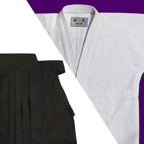 """HOUOU"" Single Layered Gi + Dx Tetron Hakama Set"