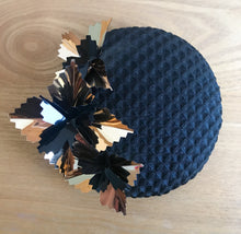 Starburst Mini - Black and Gold Textured Button