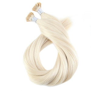 Remy I-Tip Hair Extensions-18 inches in Length in Classic, Balayage, Ombre, and Highlighted Colors
