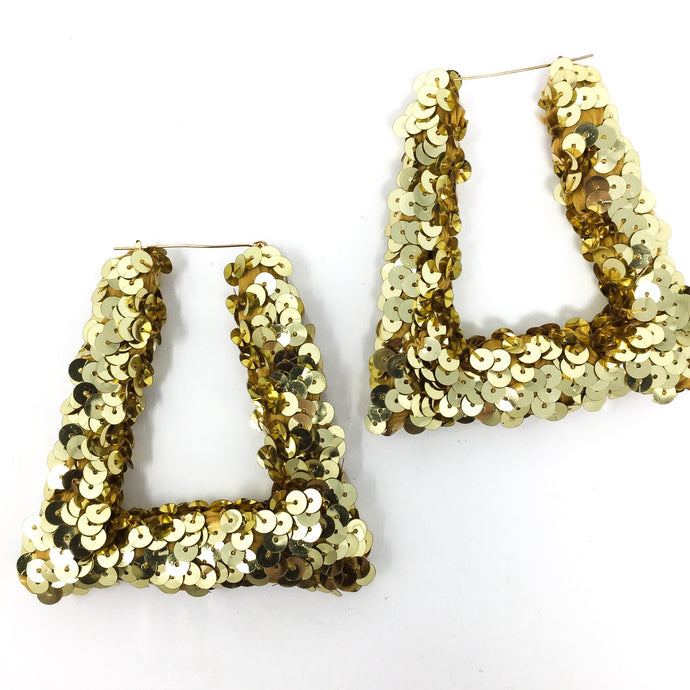 Gold Sequin Earrings