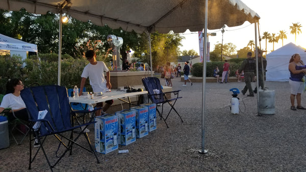 cooling station by PortaMist at 4th of July event in Mesa