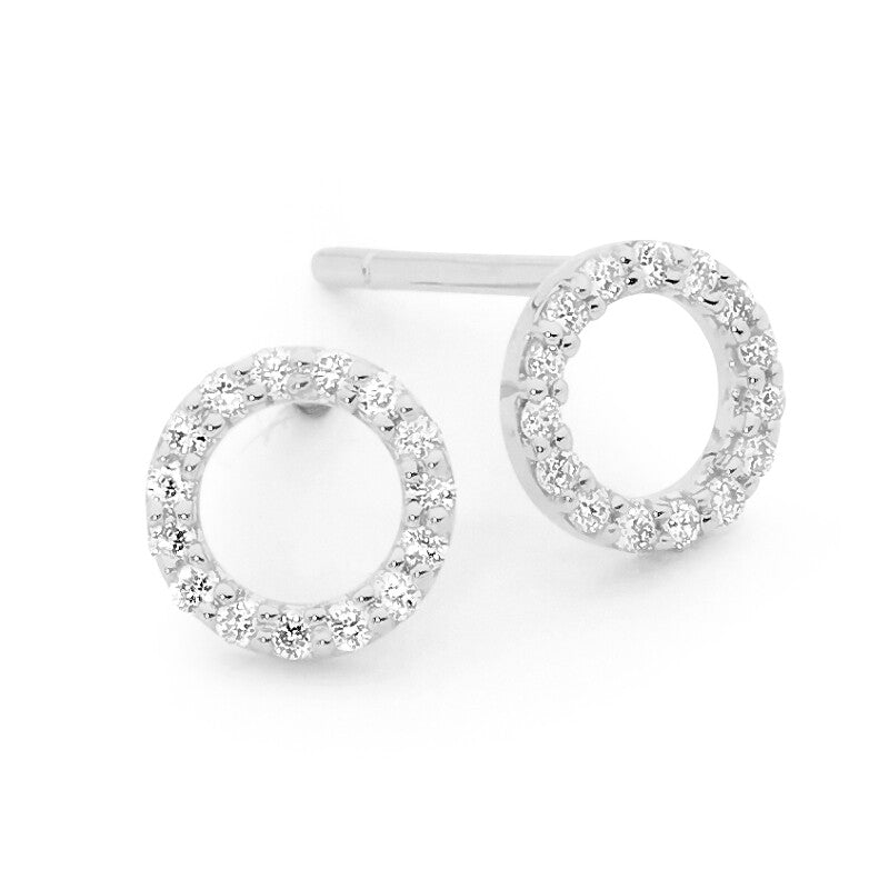 Circular Diamond Earrings