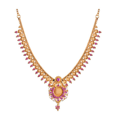 Gold Ruby necklace set