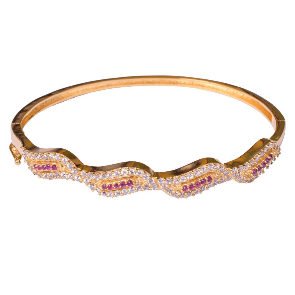 American diamond gold delicate bangle