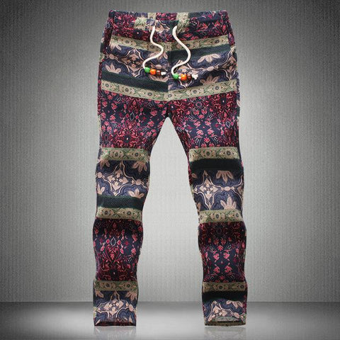 Patterned Travel Joggers