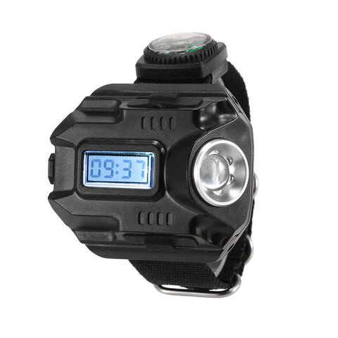 Travel Sport Wrist Watch With LED Flashlight Torch