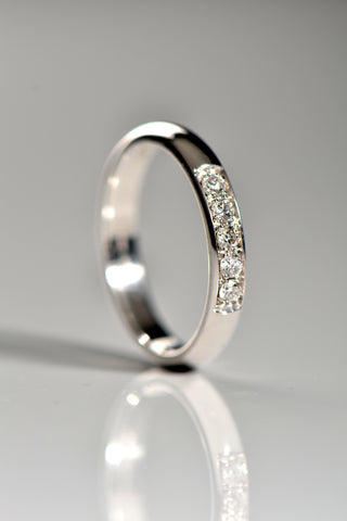Silver and 9ct gold wedding ring