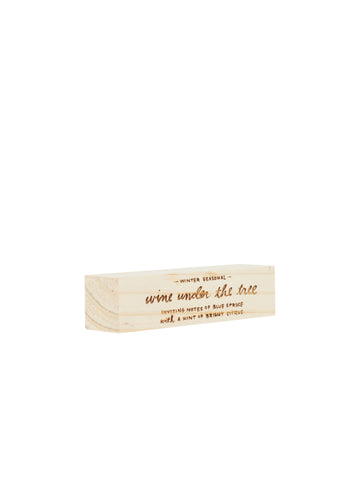 Engraved Wine Under the Tree Block