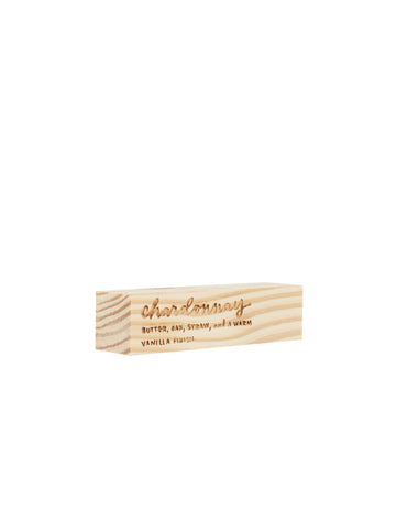 Engraved Chardonnay Block