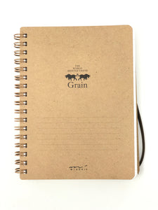 Grain Spiral Notebook B6