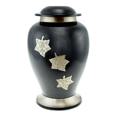 Autumn Grey/Pewter Autumn Adult Cremation Urn for Ashes - Cherished Urns