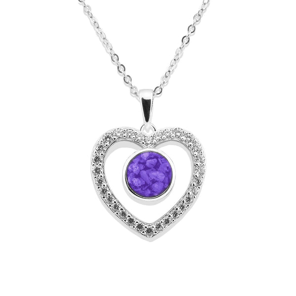 Ladies Forever Memorial Ashes Pendant with Swarovski Crystals - Cherished Urns