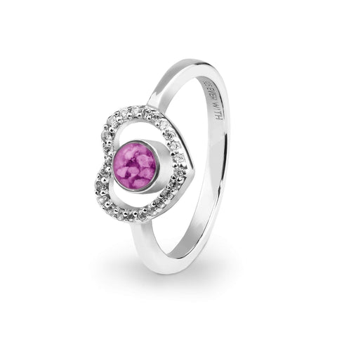 Ladies Forever Memorial Ashes Ring with Swarovski Crystals - Cherished Urns
