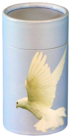 Ascending Dove Design Eco-Friendly Scattering Tube - Small - Cherished Urns