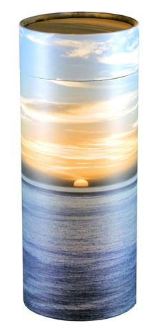 Ocean Sunset Design Eco-Friendly Scattering Tube - Large Adult - Cherished Urns