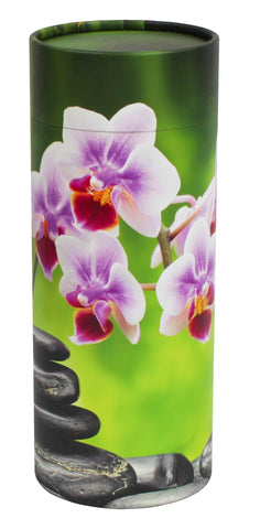 Orchid Design Eco-Friendly Scattering Tube - Large Adult - Cherished Urns