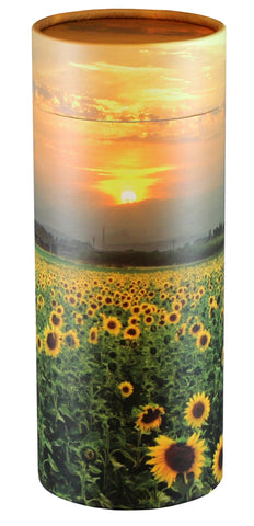 Sunflower Fields Design Eco-Friendly Scattering Tube - Large Adult - Cherished Urns