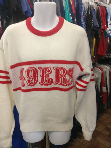 Vintage 80s SAN FRANCISCO 49ERS Cliff Engle NFL Sweater XL