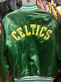 Vintage 80s BOSTON CELTICS NBA Back Patch Locker Line Nylon Jacket L - #XL3VintageClothing