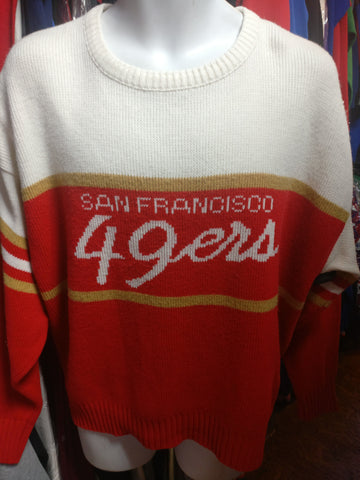 Vintage 80s SAN FRANCISCO 49ERS Cliff Engle NFL Sweater L
