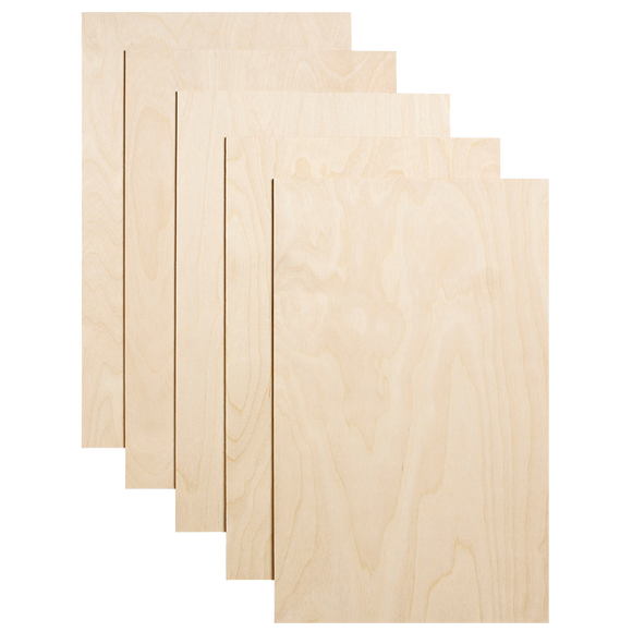 "Dremel 1/8"" - Birch Plywood - 5 Pack - Laser Cutter Materials"