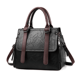 PU Leather Handbag with Adjustable Strap - Siscloset