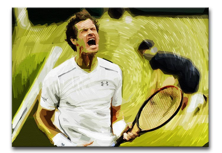 Andy Murray Wimbledon Print - Canvas Art Rocks - 1