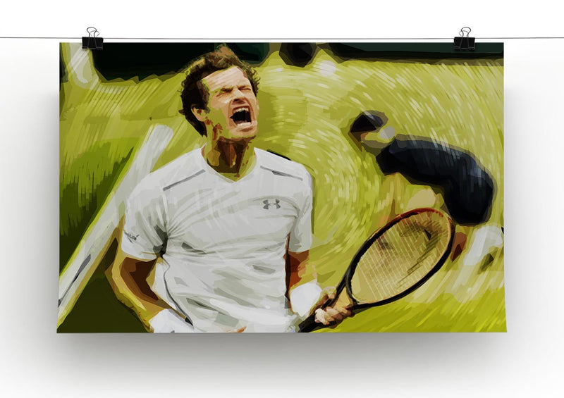Andy Murray Wimbledon Print - Canvas Art Rocks - 2