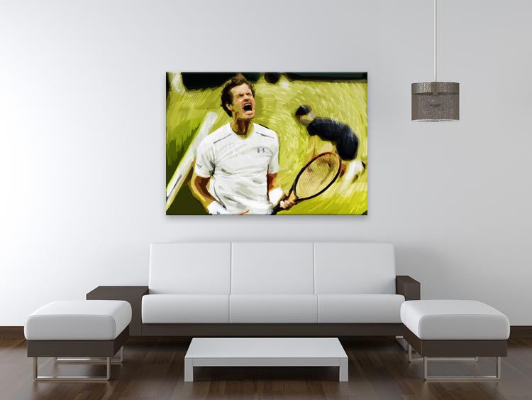Andy Murray Wimbledon Print - Canvas Art Rocks - 4