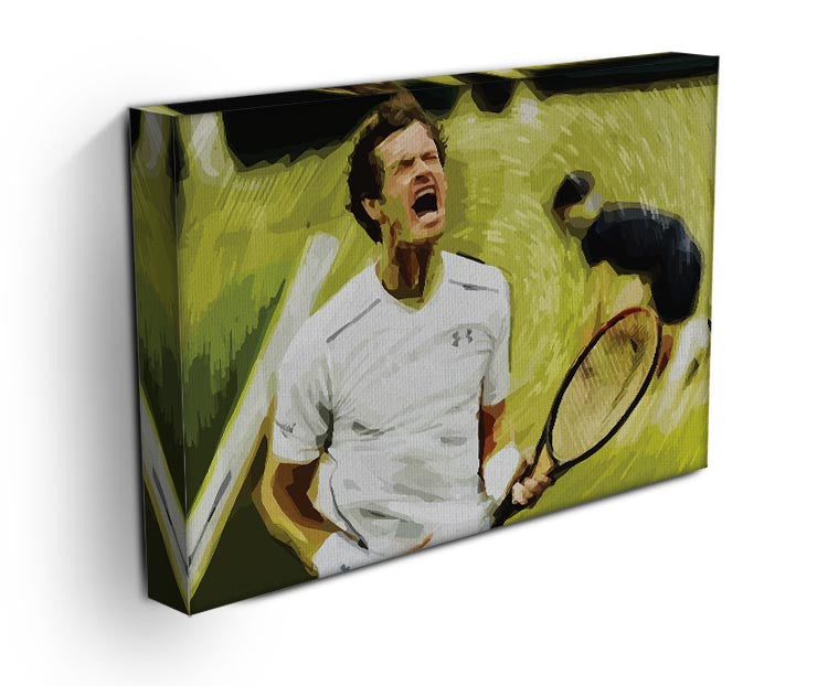Andy Murray Wimbledon Print - Canvas Art Rocks - 3