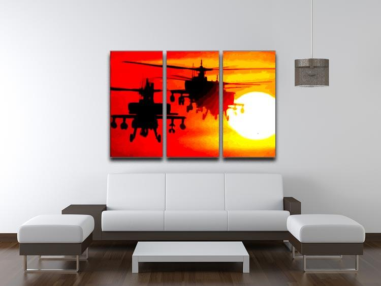 Apocalypse Now 3 Split Panel Canvas Print - US Canvas Art Rocks
