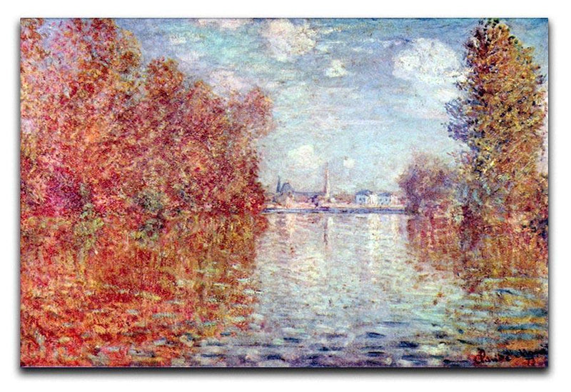 Autumn in Argenteuil by Monet Canvas Print & Poster  - Canvas Art Rocks - 1